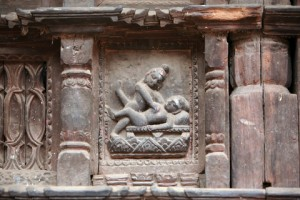 Erotic Relief Sculpture from Tantric Temple in India