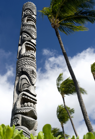 Hawaiian Tiki Totem Pole