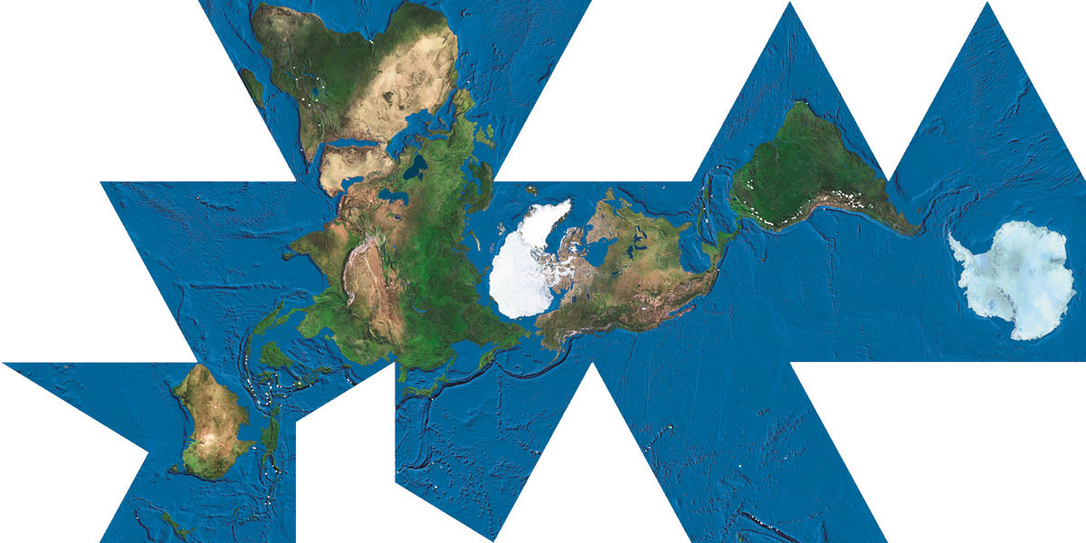 Bringing bucky fullers world game into the 21st century the dymaxion map of the earth gumiabroncs Images